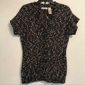 🌸SALE🌸 Liz Claiborne Knit B&W Cardigan Size M